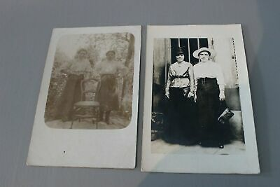 Lot de 2 photos cartes postales ancienne - CPA - Couples de femmes