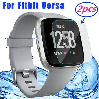 2pcs HD Tempered Glass Screen Protector Film for Fitbit Versa Smartwatch Sport