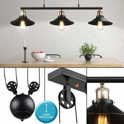 suspension lustre luminaire plafond textile noir dor clairage salle manger eur 87 45. Black Bedroom Furniture Sets. Home Design Ideas