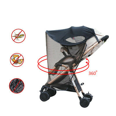 Universal Sun/Wind/Insect Protection Pushchair/Pram/Stroller Shade Cover Mesh