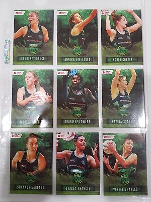 Suncorp Super Netball trading cards - base cards - full set of 80 cards