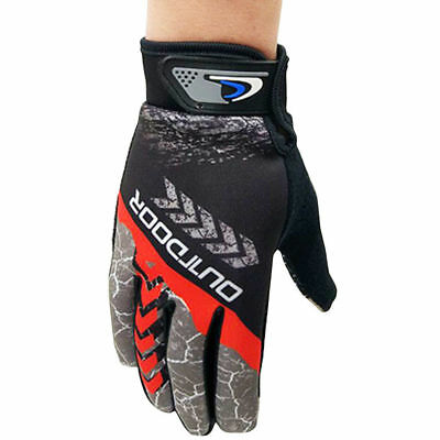 Cycling Full Finger Outdoor Gloves Shockproof Breathable MTB Bike Gloves M L XL