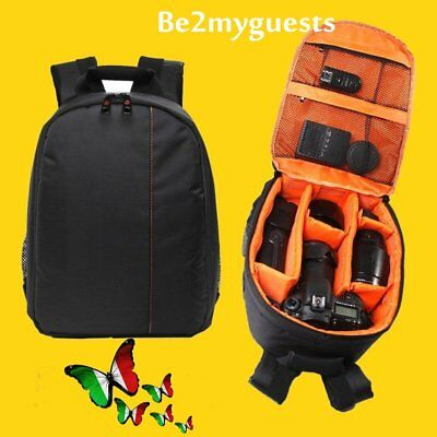 Waterproof DSLR Camera Lens Backpack Case Bag for Canon for Nikon for Sony DW