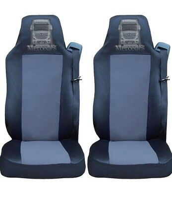 PREMIUM BLACK COMFORT PADDED SEAT COVER CUSHIONED FOR MERCEDES ACTROS AXOR ATEGO