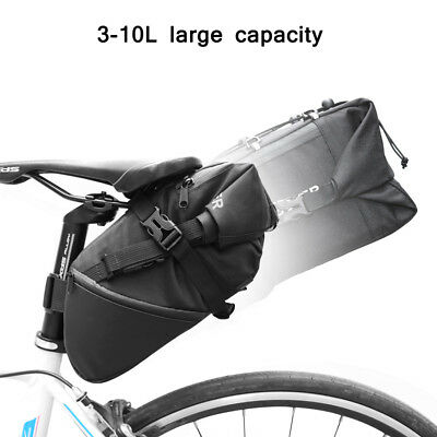 Bike Saddle Bag 10l Bicycle Tail Seat Waterproof Storage Cycling Rear Pack Pouch