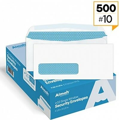 500 #10 Double Window Security Business Envelopes Security Tinted White 24 LB