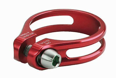 Sattelklemme 34,9 mm 9 gramm Mighty SC-SLTI rot