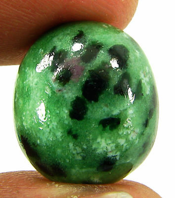17.75 Ct Natural Ruby Zoisite Loose Gemstone Cabochon Stone - 19419
