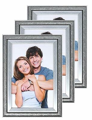 Photo Frames, 6 x 4, Silver Swirl Picture Frame, Freestanding and Mountable 6x4