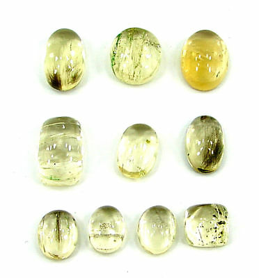 35.50 Ct Natural Scapolite Loose Cab Gemstone Wholesale Lot of 10 Pcs - 17549