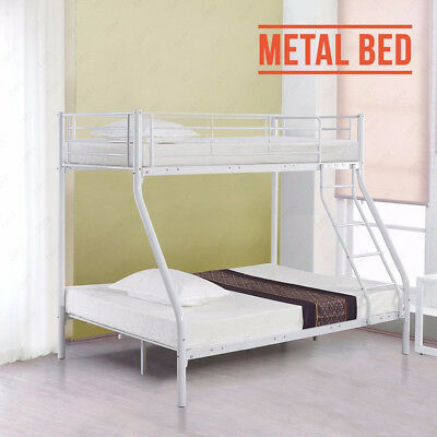 3FT SINGLE 4FT6 Double Metal Triple Bunk Bed Frame for Adult ...