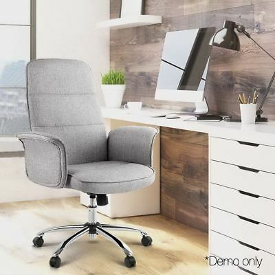 Desk Chair Adjustable Fabric Office Study Home Chairs Computer Luxury Executive