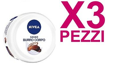 3 PEZZI NIVEA BODY ESSENTIAL CACAO BURRO CORPO 200ML Bellezza