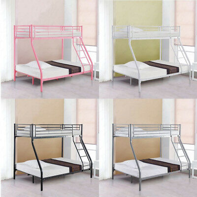 3FT Single 4FT6 Double Metal Triple Bunk Bed Frame Sturdy for Adult Kid  Children a76bbf476