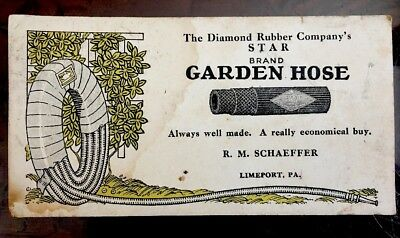True Vintage Advertising Blotter LIMEPORT Pa Schaeffer Diamond Rubber Hose