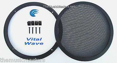 """1X 8"""" inch Sub Woofer """"Clipless"""" Fine Mesh GRILL Speaker Protective Cover VWLTW"""