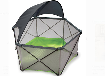 Boy Play Pen For Toddler Pop N Canopy Sun Baby Playyard With Infants Toddler NEW
