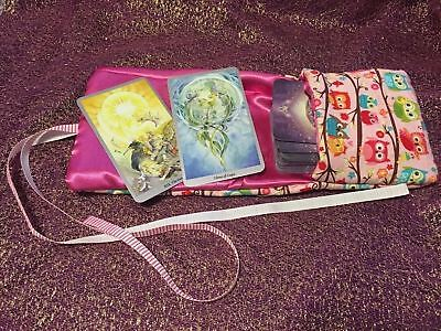 Tarot Card and Oracle Card Wrap Clutch Bag - Hand Made - Little Owls
