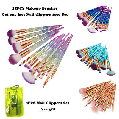 15pcs Pro Make Up Brush Foundation Eyebrow Brush Face Powder Brush Set Cosmetic