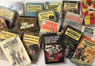Vintage War Stories Book Bundle - War Collection Mini Library