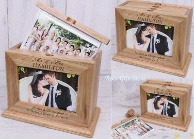 PERSONALISED Wooden MR AND MRS WEDDING Day Photo Album Unusual Gifts For COUPLE