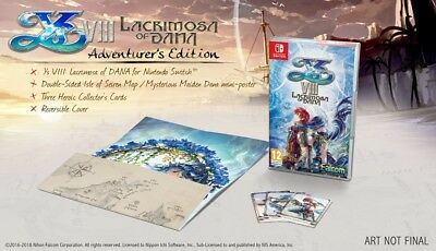 Ys VIII Lacrimosa Of DANA Adventurers Ed Switch PRE-ORDER ITEM Release 29/06/18