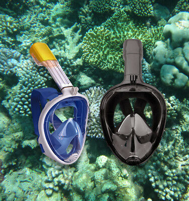 Full Face Mask Surface Snorkel Scuba for GoPro Goggles Swimming Diving Breath
