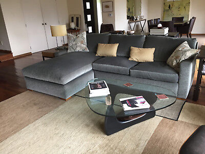 Wondrous A Rudin Sectional Sofa With Chaise On Left Side Facing Sofa Ibusinesslaw Wood Chair Design Ideas Ibusinesslaworg