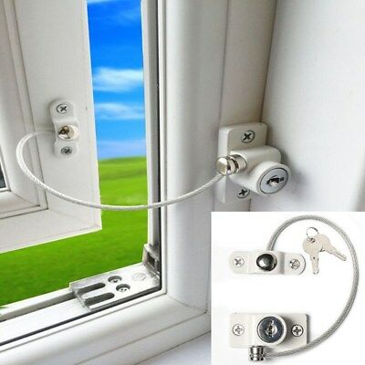 4PCS Window Restrictor Safety Cable Door Lock Wire UPVC kids Child Security Lock