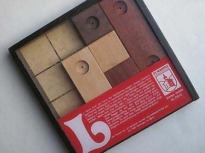 """L-Spiel"" Holzspiel EDWARD DE BONO * St.Markus SWISS MADE Design * L-Game"
