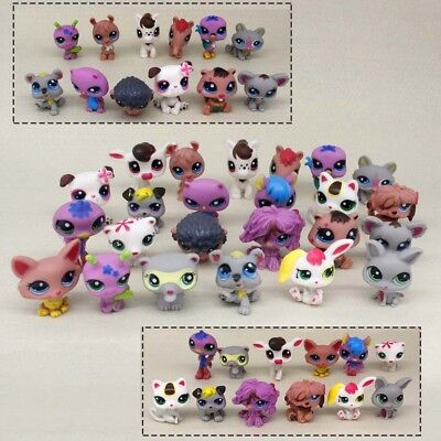 24pcs/pack Littlest Pet Shop Lot Animals Hasbro LPS Figure Toy dog cat cow Gift