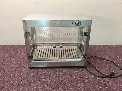 Commercial 21 x 14 x 25 Countertop Food Pizza Pastry Warmer Wide Display Case
