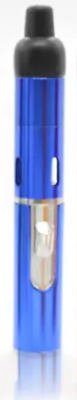 Blue Click-N-Vape Handy Portable Smoking Pipe & Lighter Sneak-a-Toke Click-N-Hit