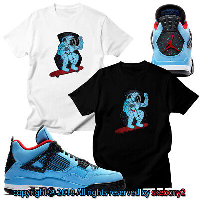 info for a322b d7d75 CUSTOM T SHIRT matching Nike Travis Scott x Air Jordan 4 Cactus Jack JD 4-