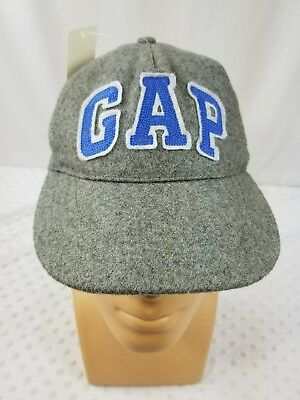 Vintage GAP Embroidered Baseball Dad Hat Cap Adjustable StrapBack Wool Grey 12e5e503beae