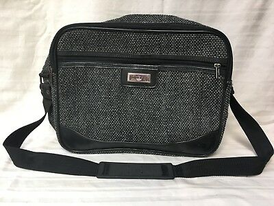 46229d04d6 AMERICAN TOURISTER CARRY On Bag Luggage Black Tweed Travel Bag ...
