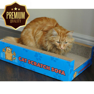 Cat Scratch Sofa Lounge including free cat-nip - Cardboard Scratcher Post...