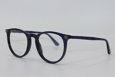 54e8b13881 Brand New Gucci Gg 0027O 005 Blue Eyeglasses Authentic Rx Gg0027O 50-20