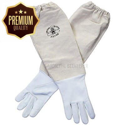Beekeepers White leather bee Gloves EXTRA SMALL