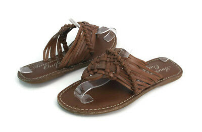 35e685287 American Eagle Outfitters Women s Brown Leather Strappy Thong Sandals Size  4.5