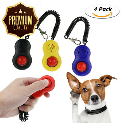 TedGem Training Clicker with Wrist Strap, Set of 4 Pcs Big Button Clickers...