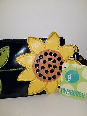 GYMBOREE fashion womens  small bag  sunflower bumble bee clutch.
