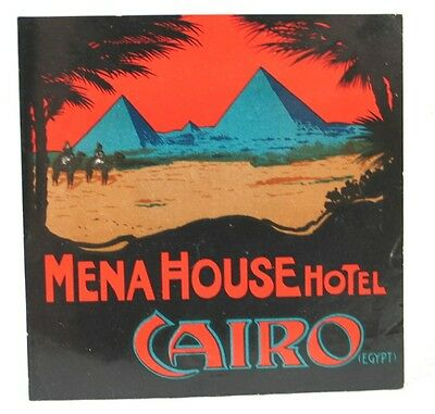 Vintage Travel Luggage Tag for Mena House Hotel Cairo