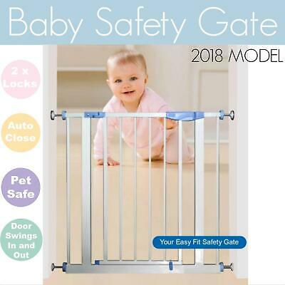 75CM Height Adjustable Baby Safety Gate Door Stairs Pet Barrier Security Toddler