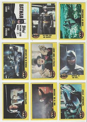 Batman The Movie Series 2 - Complete Card Set (132) - 1989 Topps - NM