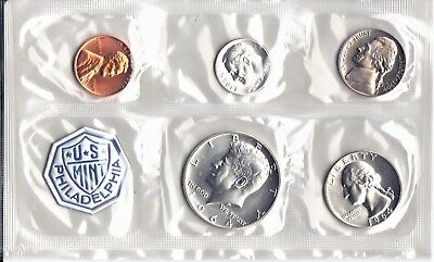 1964 U.S. MINT PROOF SET FLAT CELLO PACK w/ENVELOPE 1st YEAR MINTED KENNEDY HALF
