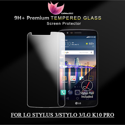 9H Hardness Tempered Glass HD-Clear Screen Saver Protector for LG Stylo 3 LS777