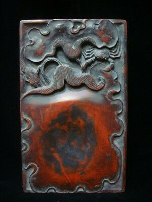 "Very Fine Rare Antique Chinese ""Duan"" Ink Stone Hand Carving InkSlab"