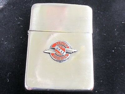 Vintage Zippo 1941 Bell Aircraft Service Division 4BBL w original 14 hole insert