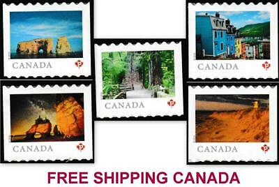 "2018 Canada ~ FROM FAR and WIDE ~ ALL 5 ""P"" Booklet Singles MNH ~ FREE SHIPPING"